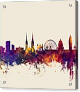 Belfast Northern Ireland Skyline Acrylic Print