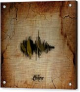 Believe Recorded Soundwave Collection Acrylic Print