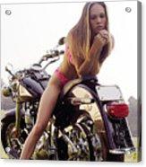 Bikes And Babes Acrylic Print