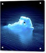 Blue Icebergs And Ice Chunks In Water Nearby Alaska Acrylic Print