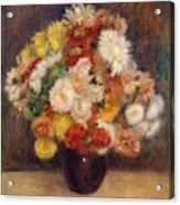 Bouquet Of Chrysanthemums Acrylic Print