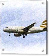 British Airways A319 Feather Design Art Acrylic Print