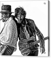 Bruce Springsteen Clarence Clemons Collection Acrylic Print