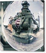 Budapest Globe - Liberty Bridge Acrylic Print