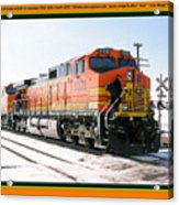 Burlington Northern Santa Fe Bnsf - Railimages@aol.com Acrylic Print