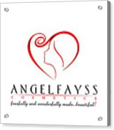 Red And White Angelfayss Acrylic Print