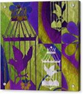 3 Caged Birds Acrylic Print