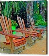 3 Chairs  Acrylic Print