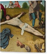 Christ Nailed To The Cross Acrylic Print