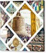 Collage Of Kathmandu  Acrylic Print
