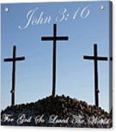 3 Crosses Acrylic Print