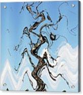 Dead Pine Tree Abstract Acrylic Print