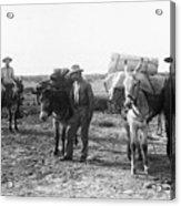 3 Desert Prospectors C. 1900 Acrylic Print