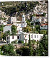 Dhermi Traditional Village View In Southern Albania Acrylic Print