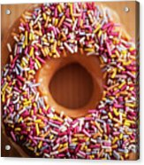 Donut And Sprinkles Acrylic Print
