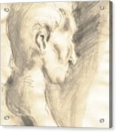 Drawing Of Ancient Sculpture Acrylic Print
