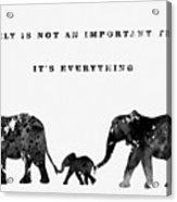 Elephant Family-black Acrylic Print