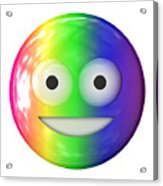 Emoticon Plastic Face Acrylic Print