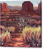 Evening In Monument Valley Acrylic Print