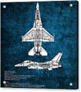 F16 Fighting Falcon Acrylic Print