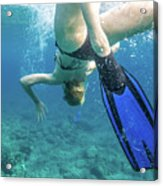 Female Snorkeling Acrylic Print