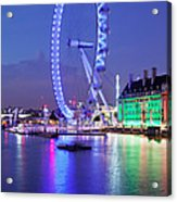 Ferris Wheel At The Waterfront Acrylic Print