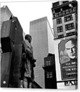 Film Homage The Fighting 69th 1940 Fr. Duffy Statue Yul Brynner Palace Theater New York 1977 Acrylic Print