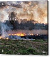 Fires Sunset Landscape Acrylic Print