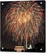 Fireworks Over Washington Dc On July 4th Acrylic Print