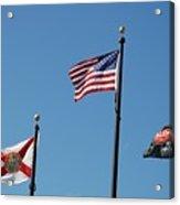 3 Flags Acrylic Print