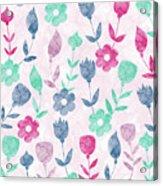 Floral Pattern  Acrylic Print