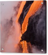 Flowing Pahoehoe Lava Acrylic Print