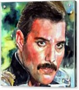 Freddie Mercury Portrait Acrylic Print