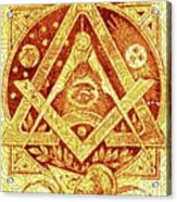 Freemason Symbolism Acrylic Print