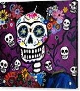 Frida Dia De Los Muertos Acrylic Print