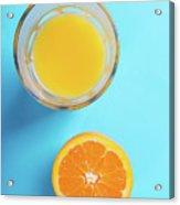 Glass Of Orange Juice And Half Of Orange Acrylic Print