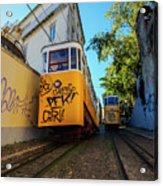 Gloria Funicular, Lisbon, Portugal Acrylic Print
