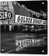 Golden Nugget Casino At Night In The Rain Las Vegas Nevada 1979 Acrylic Print