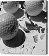 3 Golf Balls Enter Art Competition Acrylic Print
