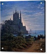 Gothic Church On A Rock By The Sea  Acrylic Print