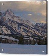 Grand Teton Winter Dawn Acrylic Print