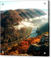 Grandview New River Gorge Acrylic Print