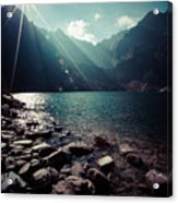 Green Water Mountain Lake Morskie Oko, Tatra Mountains, Poland Acrylic Print