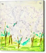 Hand Painted Picture, Spring Garden Acrylic Print