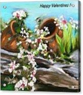 Happy Valentines  Acrylic Print