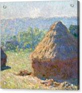 Haystacks, End Of Summer Acrylic Print