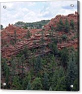 Hiking The Mesa Trail In Red Rocks Canyon Colorado Acrylic Print