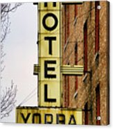 Hotel Yorba Acrylic Print