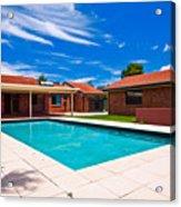 House And Pool Acrylic Print