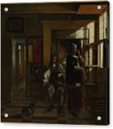 Interior With A Young Couple Acrylic Print